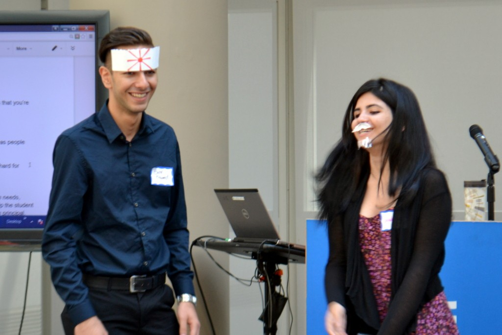 Mentors got creative with costumes while acting out mentoring scenarios.