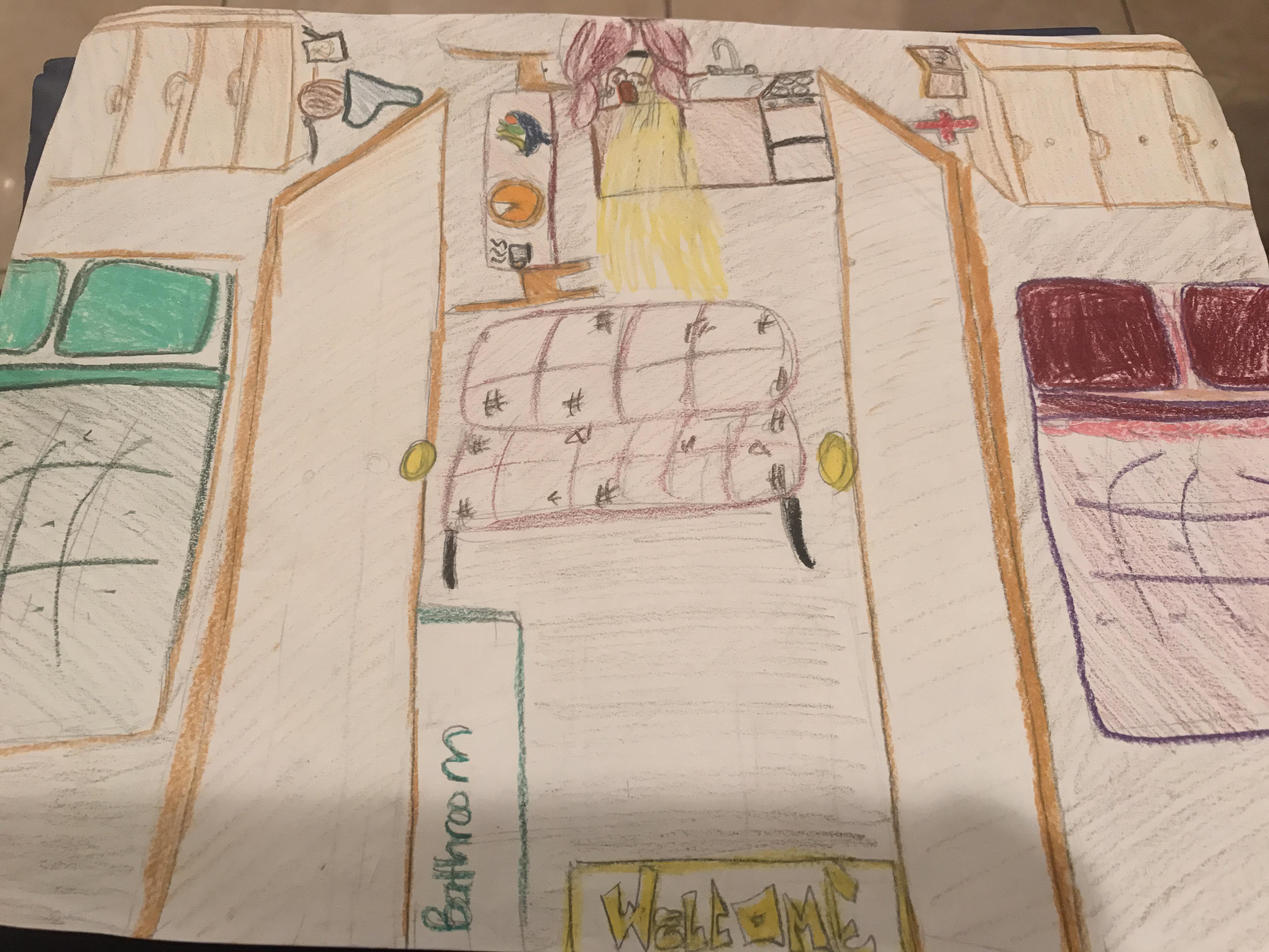 Here S My Drawing Of The Younger Apartment Which Is Based Off Descriptions Within Beginning Play