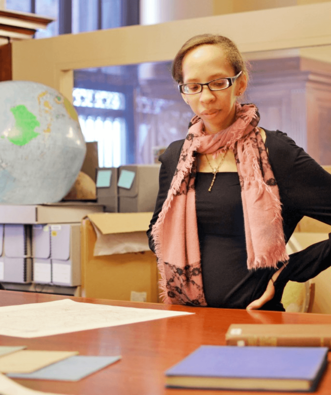 Irene Morrison-Moncure at the NYPL Mapping Division