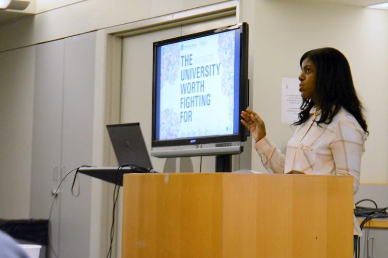 Lauren Melendez discusses the Futures Initiative Peer Mentoring program