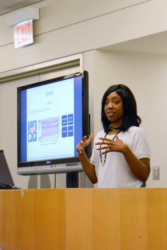 Kashema Hutchinson presenting at the Futures Initiative