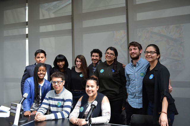 The fabulous FI Peer Mentors (undergraduates from across the CUNY campuses) and their fearless leaders, Lauren Melendez & Mike Rifino