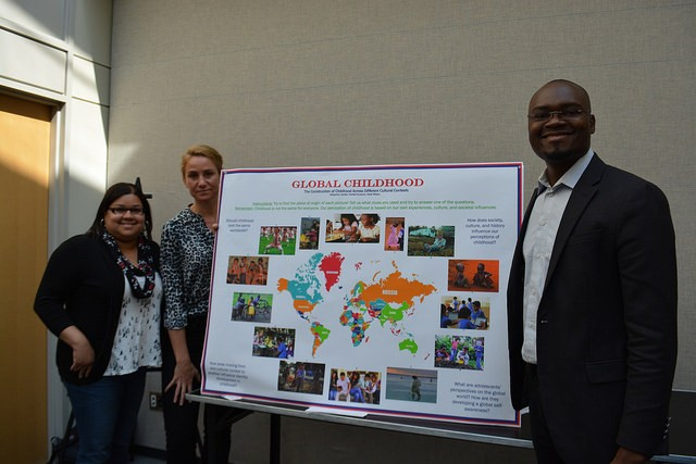 Students in the Social Construction of Childhood present their work on global childhood