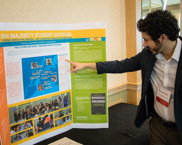 Mike Rifino showing poster presentation
