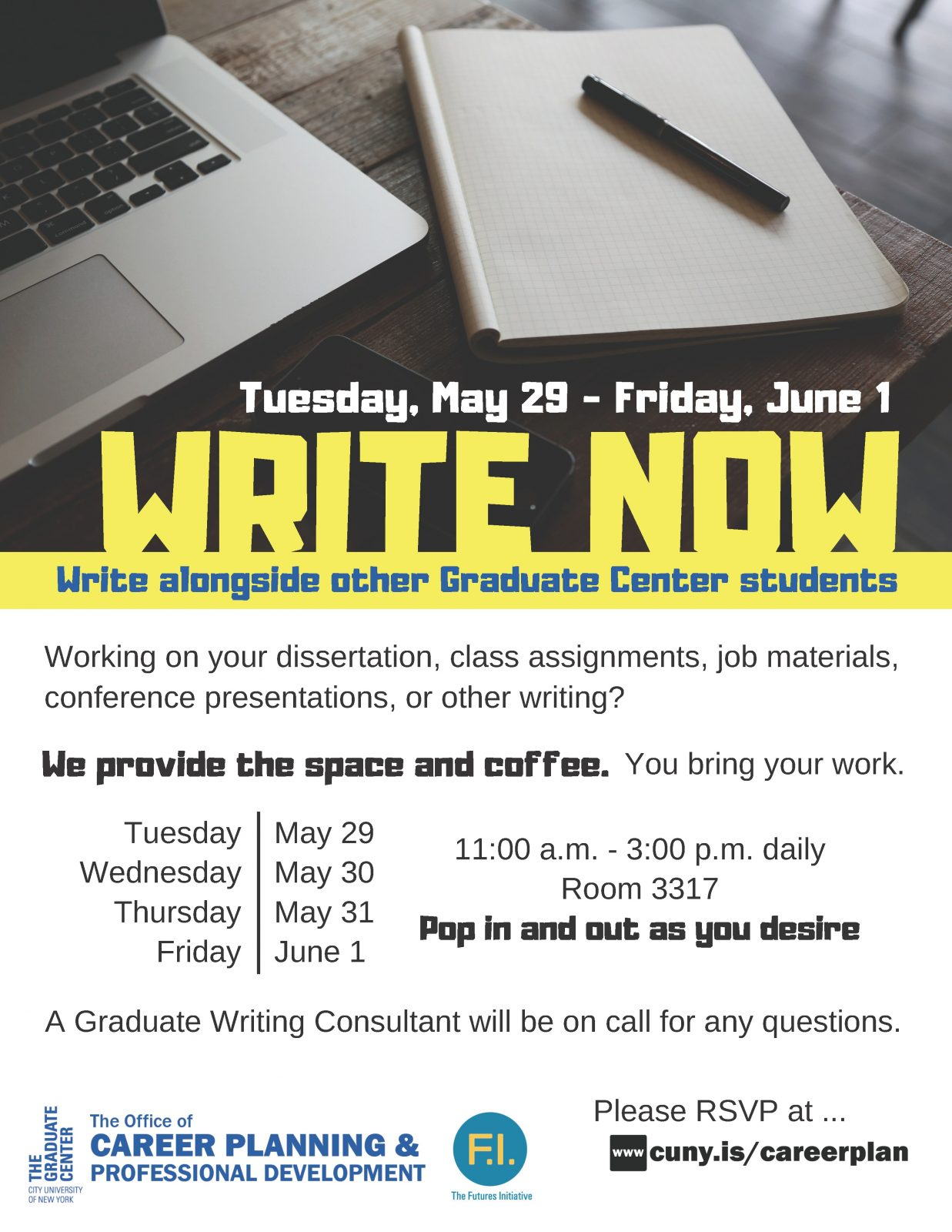 Write Now: Writing Retreat for GC Students