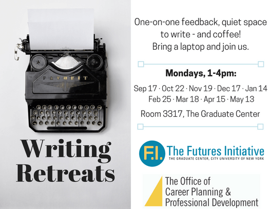 Flyer for writing retreats - text in body of post