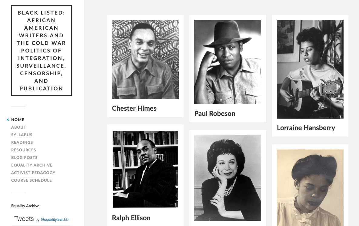 Screenshot of Blacklisted website