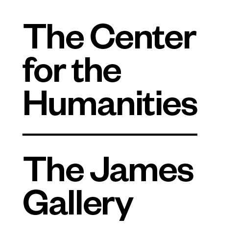 The Center for the Humanities and the James Gallery logos