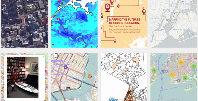 Thumbnail images of mapping projects